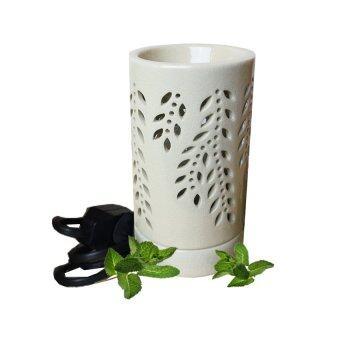Aroma & More เตาเผาน้ำมันหอมระเหยไฟฟ้าเซรามิกสีงาช้าง - สีขาว