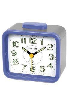 RHYTHM นาฬิกาปลุก รุ่น CRA637-WR04 (สีน้ำเงิน/เทา)