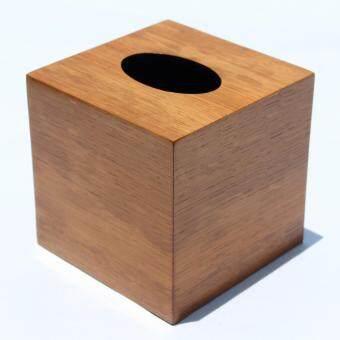 HPTJ กล่องใส่กระดาษทิชชู่ พื้นผิวไม้ปาโด้ ขนาดกลาง
