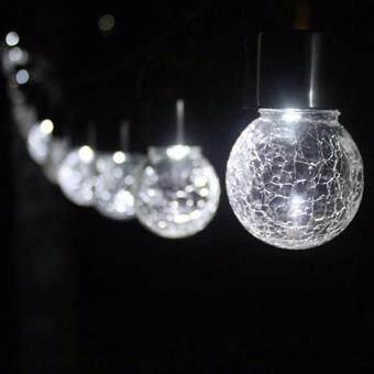 ไฟห้อยพลังงานแสงอาทิตย์ Crackle ball แสงขาว