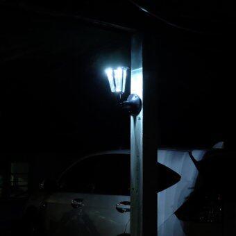 โคมไฟกิ่ง โซล่าเซลล์ ทรง classic (สีดำ) (เเสง : ขาว)