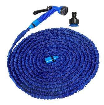 Elastic Hose สายยางยืดหด-in-หัวฉีดน้ำ 22.5เมตร/75FT จะขยายและสัญญา (สีน้ำเงิน)