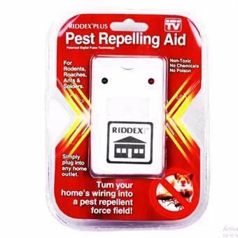 เครื่องไล่หนู แมลงสาป ยุง มดและแมงมุม Electronic LED Light Pest Repelling Aid (White)1ชิ้น