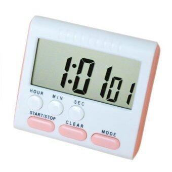 Lek and Love นาฬิกาจับเวลาทำอาหาร เดินหน้า ถอยหลัง 24 ชั่วโมง Digital Timer (สีชมพู)