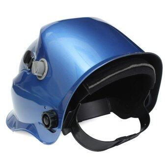 บริษัทโปรออโตดูดกลืนพลังงานไฟฟ้าเชื่อมกุบไล่ Mig เชื่อมหน้ากากเหล็กสีน้ำเงินเข้ม