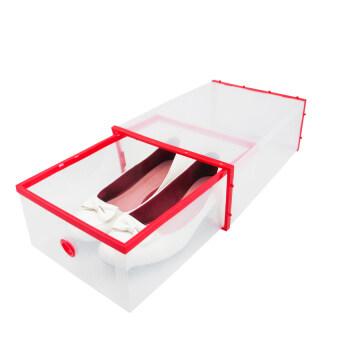 Replica Shop กล่องลิ้นชักเก็บรองเท้า (สีใส/แดง)