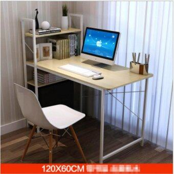 โต๊ะLoft Style ขนาด 1.2 เมตร รุ่น BP216 โครงขาว-บีช