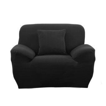 โซฟานั่งนอนในผ้ายืดปลอกฝาเดียวเคสสีดำ