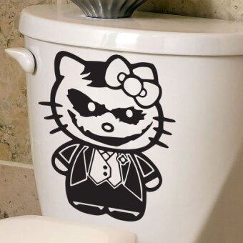 Sticker Pro Toilet Sticker Design funny kitty+joker สติ๊กเกอร์ตกแต่งสุขภัณฑ์