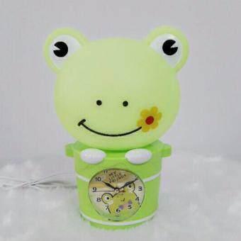 โคมไฟนาฬิการูปกบสีเขียว ของตกแต่งบ้าน ของขวัญ