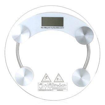 Electronic weight scale เครื่องชั่งน้ำหนักดิจิตอล กระจกใส รุ่น (white)