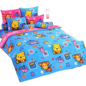 โตโต้ ชุดเครื่องนอน ผ้าปู ลายลิขสิทธิ์ การ์ตูน หมีพูห์ คิวตี้ รุ่น CU92 TOTO Pooh Cuties 's Bed Sheet No. CU92
