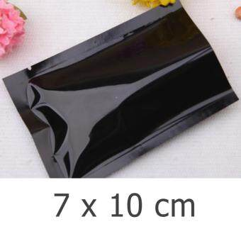 ซองซีล 3 ด้าน พลาสติกเงา สีดำ ขนาด7x10cm