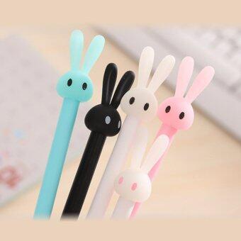ปากกา ลายแฟนซี การ์ตูน กระต่าย น่ารัก 0.38 mm - หมึกสีน้ำเงิน 12 แท่ง คละสี