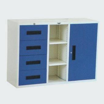 RF Furniture ตู้เอกสารเหล็ประตู้ลิ้นชัก2ชัก ขนาด120ซม.รุ่น 1B6L-A ( สีน้ำเงิน/ครีม )