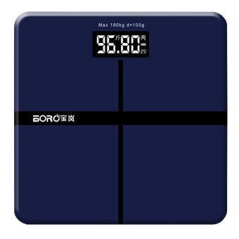 Tmall Electronic weight scale เครื่องชั่งน้ำหนักดิจิตอล กระจกใส (Blue)