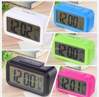 Cassablu นาฬิกาปลุกตั้งโต๊ะ นาฬิกาปลุกเรื่องแสง นาฬิกาปลุก สีขาว (image 3)
