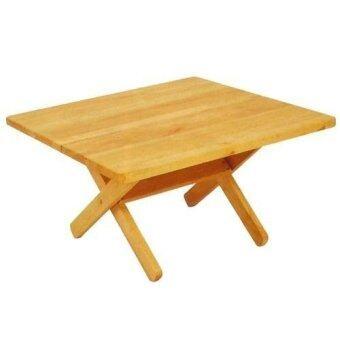 โต๊ะญี่ปุ่นไม้ยางพับได้ ขนาด 60 cm. (สีธรรมชาติ)