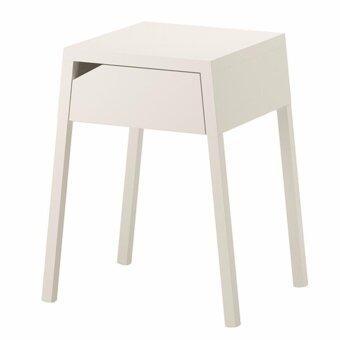 โต๊ะเล็กข้างเตียงสีขาว 46 X 37 X 55.5 ซม..
