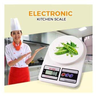 Electronic Kitchen Scale เครื่องชั่งน้ำหนักอาหาร 5,000 g รุ่น SF-400 (สีขาว)