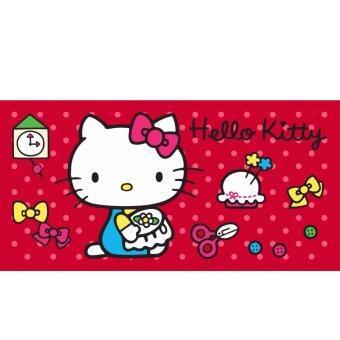 Sanrio ผ้าขนหนู Hello Kitty KT-7016 สีแดง ขนาด 30x60 นิ้ว