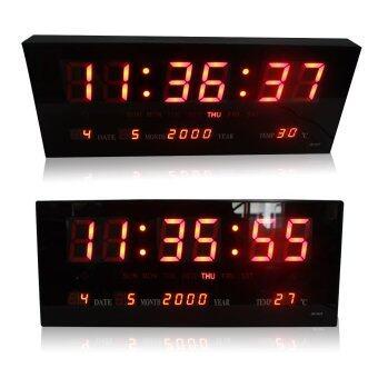 นาฬิกาดิจิตอล LED DIGITAL CLOCK แขวนผนัง รุ่น JH3615 (ตัวเลขสีแดง)