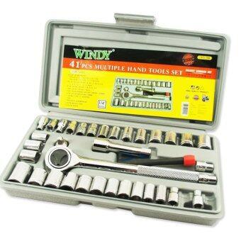 WINDY ชุดปะแจบล็อก 41 ชิ้น+ เครื่องมือ (พร้อมกล่องพลาสติกกันกระแทก)
