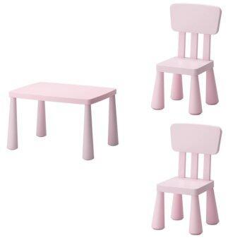 โต๊ะเด็ก เก้าอี้เด็ก ชุดเฟอร์นิเจอร์เด็กเล็ก เซทโต๊ะเก้าอี้เด็ก โต๊ะกิจกรรมเด็กเล็ก สีชมพู CK