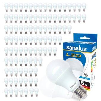 Saneluz หลอดไฟ LED Bulb SZ 5W หลอดปิงปอง (Daylight แสงขาว) 100 หลอด
