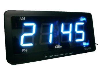 GooAB Shop นาฬิกาปลุก ตั้งโต๊ะ ติดผนัง LED เฉพาะเวลา ขนาด 7 นิ้ว - ไฟสีฟ้า