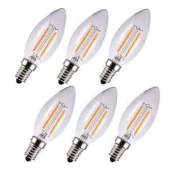 LEDANDLAMP LED EDISON VINTAGE C35 หลอดจำปา 4W ขั้ว E14 (WARMWHITE) แสงสีเหลืองนวล