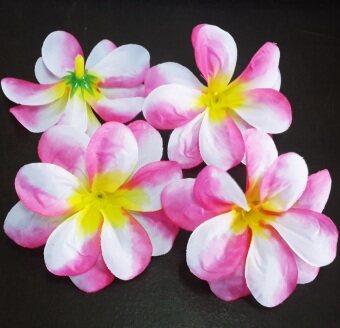 Dokpikul-หัวดอกลีลาวดี ดอกไม้ผ้า ประดิษฐ์ ขนาดเส้นผ่าศูนย์กลาง 8 ซม แพค 100ดอก .-สีชมพูสไลด์