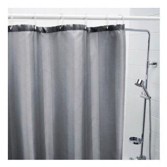 ซัลท์กรุนด์ ผ้าม่านห้องน้ำ สีเทา ขนาด 180x200 ซม.(เฉพาะผ้าม่าน) HomeSmile