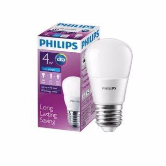 Philips หลอดไฟ LED Bulb 4-40 วัตต์ - สีขาวคูลเดย์ไลท์ แสง6500K 4หลอด
