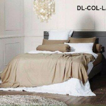 Dunlopillo ผ้าปูที่นอน+ปลอกหมอนหนุน 2ใบ+ปลอกหมอนข้าง 2ใบ ลายDL-COL-LATTE ขนาด 6ฟุต