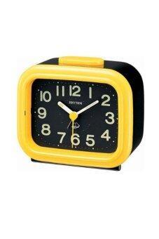 RHYTHM นาฬิกาปลุก รุ่น 4RA888-R33 (สีดำ/เหลือง)