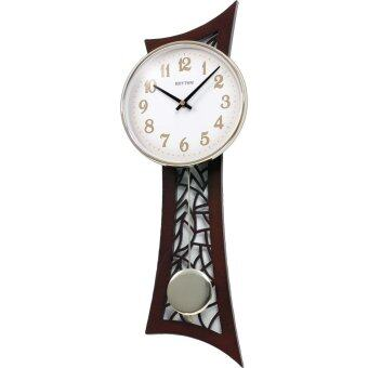 RHYTHM Japan นาฬิกาแขวน ตัวเรือนไม้แท้ รุ่น CMP540NR06