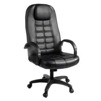 ADHOME เก้าอี้ผู้บริหารหุ้มหนัง หลังสูง รุ่น PR-156 (สีดำ)