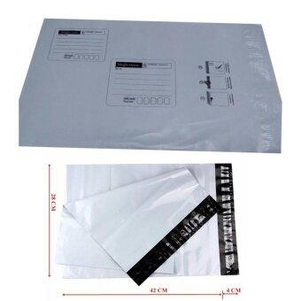 ซองไปรษณีย์พลาสติกสีขาว มีจ่าหน้า ขนาด 28x42 cm (100 ใบ)