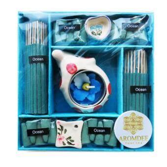 Aromdee premuim incense : ธูปหอมอโรมา กำยานหอม กลิ่นน้ำทะเล บรรจุในกล่องกระดาษสา สวยงาม