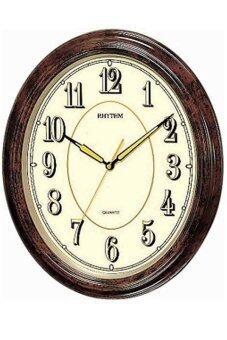 RHYTHM นาฬิกาแขวน รุ่น CMG712NR06 (Brown)