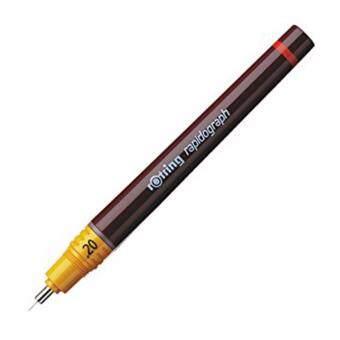 ปากกาเขียนแบบ rOtring Rapidograph (ขนาดหัว 0.2mm.)