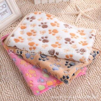 Harga Warm Pet Mat Paw Print Cat Dog Puppy Fleece Soft Blanket Bed Cushion Pink XS