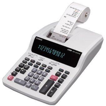 CASIO Printing Calculator รุ่น DR-120TM เครื่องคิดเลข 12 หลัก แบบพิมพ์ได้ , สีขาว