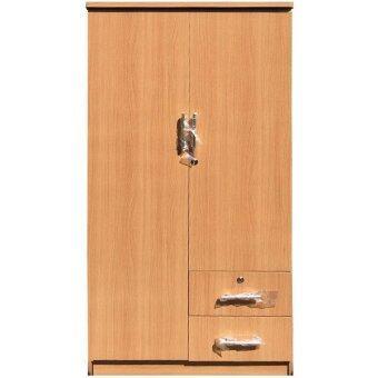 Adhome ตู้เสื้อผ้า ขนาด 80 ซม. รุ่น S-80 (สีบีช)