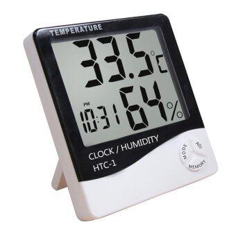 iBettalet เครื่องวัดอุณหภูมิและความชื่น รุ่น HTC-1 (สีดำ/ขาว)