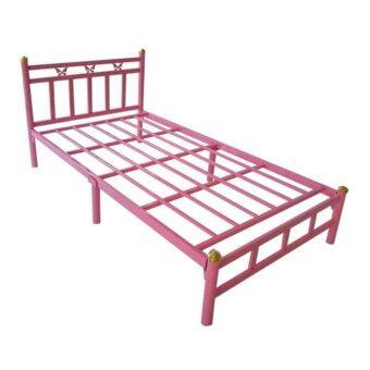 ISO เตียงเหล็กอย่างดี 3.5ฟุต รุ่นผีเสื้อ ขา2นิ้ว สไตล์โมเดิร์น