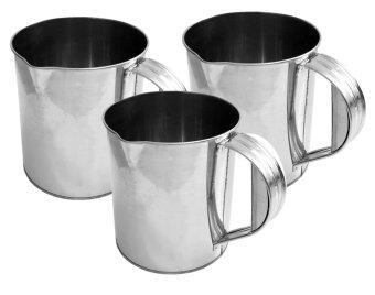 CCG แก้วชงกาแฟ / แก้วชาชัก สเตนเลส 2.0 ลิตร ชุด 3 ใบ