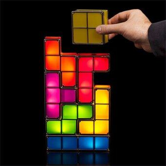 Golems โคมไฟตัวต่อ Led Tetris Stackable Tetris Led Desk Lamp