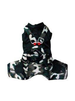 Dogacat เสื้อสุนัข เสื้อหมา เสื้อแมว เอี๊ยมยืดทหาร - สีเขียว